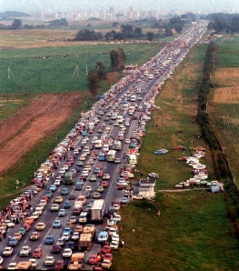 The Baltic Way near Vilnius, Lithuania, Aug. 23, 1989.