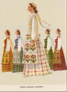 national costume, often woven from flax. blogspot.com