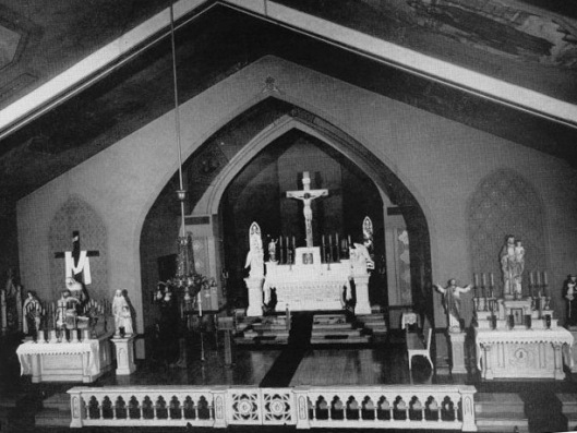 The interior of St. Vincent de Paul Lithuanian Catholic Church