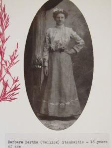 Grandma Barbara Bertha (Wallick) Stankaitis - 18 years of age 001