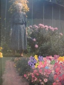 Grandma Stankaitis with her flowers