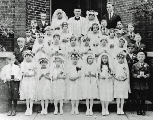 St. Vincent de Paul's First Holy Communion, circa 1920.
