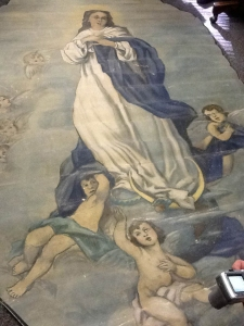 The Immaculate Conception ceiling mural, St. Vincent de Paul's.