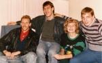 Fall 1988, Lawrence, KS, fr. left - Rimas Kurtinaitis, Sarunas Marciulionis, Vita Zemaitis, Donnie Nelson.