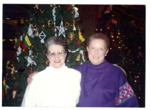 from left, Fritiz Cartwright & Marti Long with Lithuanian Christmas tree at