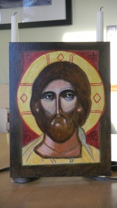 Jesus icon painted by Maria
