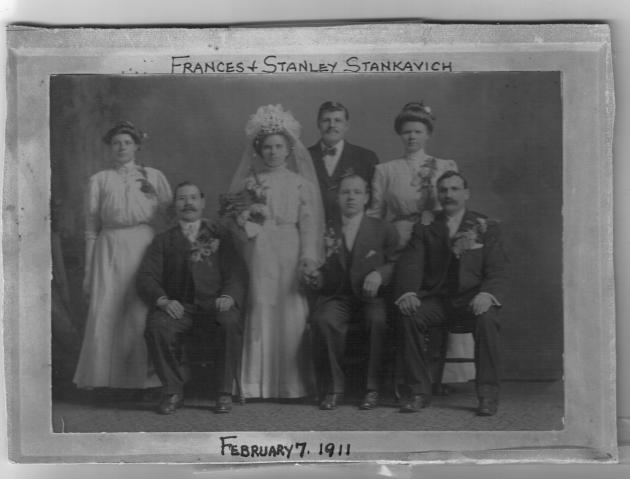 The 1911 wedding of Stanley and Frances (Missavich) Stankavich
