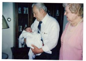 Debbie's grandparents Bill & Anne Petreikis Urban with great-grandchild