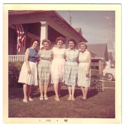 "The Petreikis ""girls"" (l to r): Dorothy, Mary, Anne (Petreikis Urban)  , Josephine and Helen."
