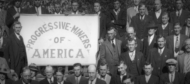 Founding convention, Progressive Miners of America, Gillespie, 1932. (Courtesy of minewars.org)