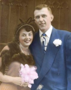 Clarice & Vic Alane, Jr. wedding, 1950
