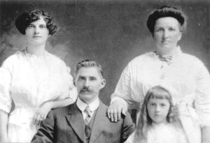 l to r:  back row:  Anna and mother Anna Kasawich, front row: Paul and Eva Kasawich