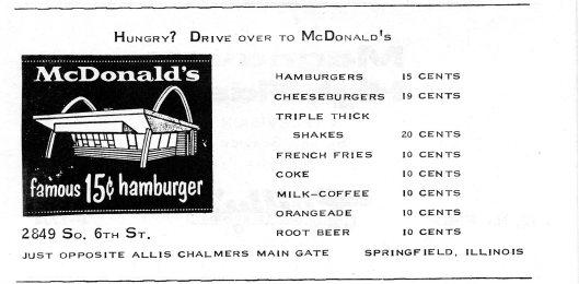 S. Sixth St. ad, circa 1957