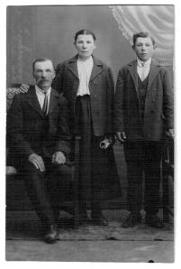 Nancy Benikas' father, mother, and brother Juozas
