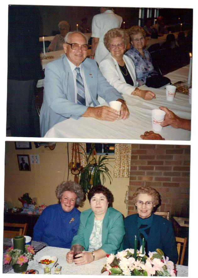 Top photo, from left:  George and Helen Rackauskas and Ann Urbanckas. Bottom photo from left: Pat (Urbanckas) Mathews,  Georgeann Wisnosky, Julia Wisnosky.