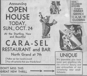 undated newspaper ad