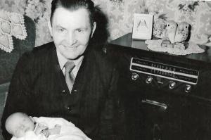 Joseph Gedman with granddaugher Betty as an infant