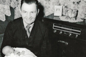 Joseph Gedman with granddaugher Betty as an infant