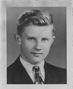 George Yuskavich portrait, 18 years old, circa 1940.