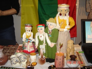 Lithuanian dolls on display