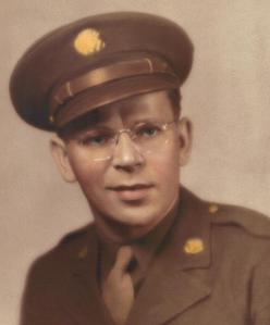 William, Jr. in World War II army uniform