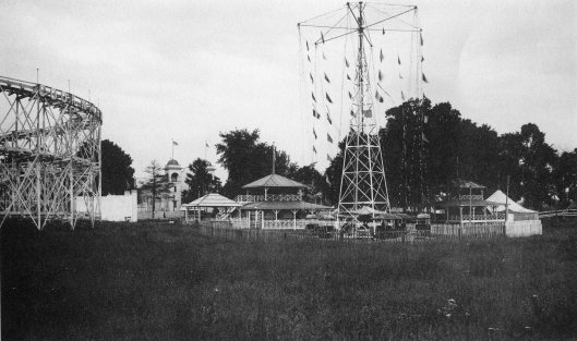 White City Amusement Park, circa 1920.  The park included a roller coaster and dance hall, & was modeled after Coney Island.
