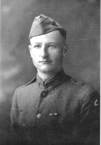 Lithuanian immigrant John Joseph Straukas, age 28, of Riverton, American Expeditionary Force, 1918.  He received expedited U.S. citizenship as a result of his service to our country in World War I.