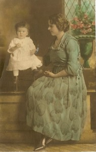 baby Catherine as an infant with her mother Anna Marie Stuches Gilletties, circa 1900.