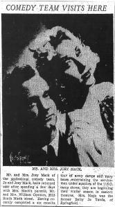 Jo and Joey Mack,  1940s