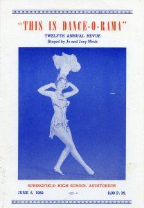 Jo & Joey Mack dance school program, Springfield High School, 1958.