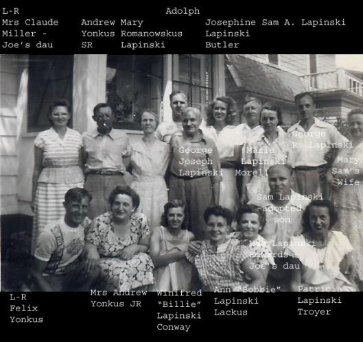 Lapinski family, 1940s?