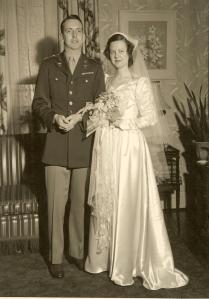 Christina Virginia Cooper and John White wedding, 1946