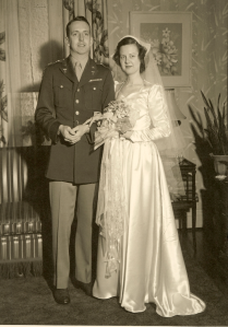 Christina Virginia Cooper and John White wedding, 1946