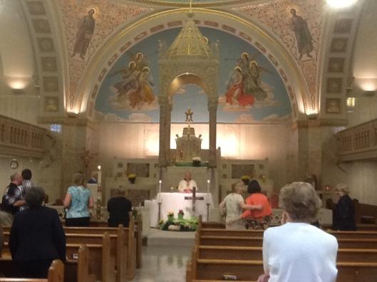 C. V. White memorial mass at Franciscan convent Adoration Chapel, Riverton