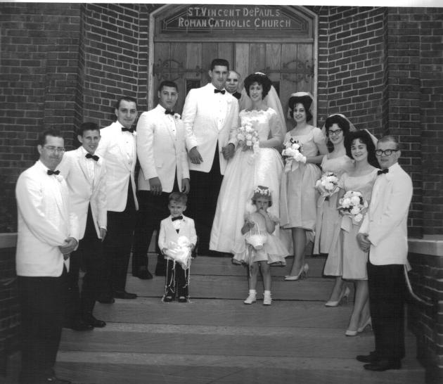 Georgeann (Yanor) Carver wedding to Mick Madison, 1962