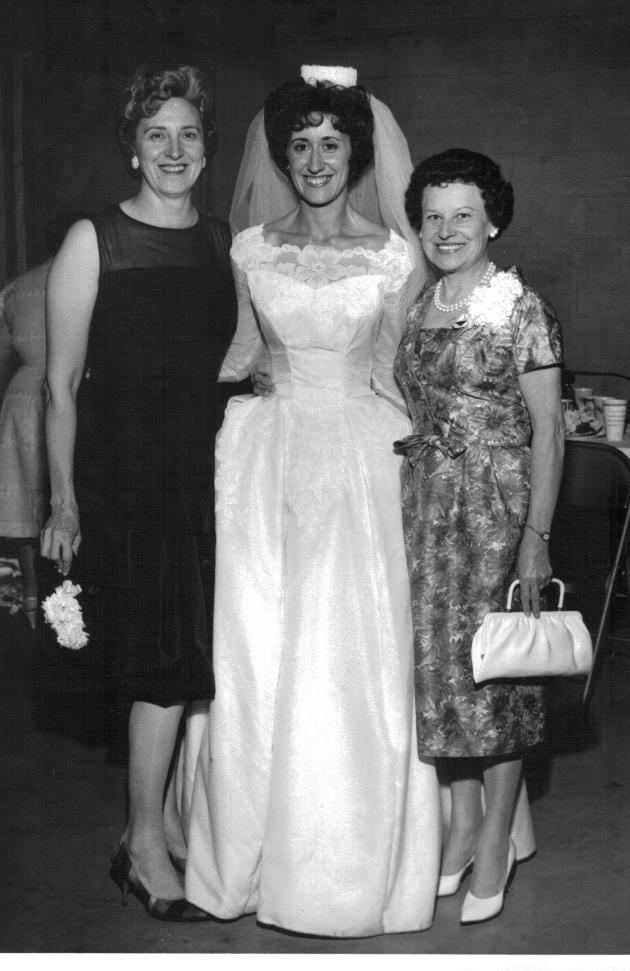 l to r: Monty (Monica) Yanor, Georgeann (Carver) Madison, Josephine (Yanor) Stankavich. 1962