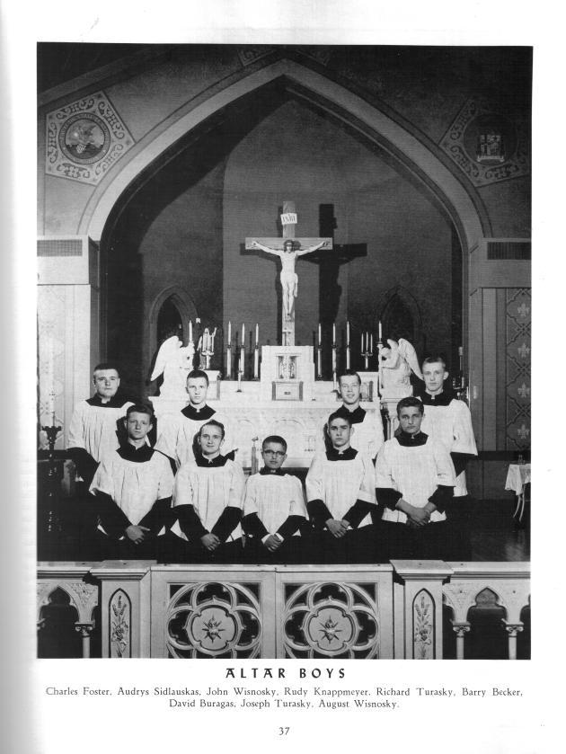 Altar boys, from parish Jubilee book, 1956