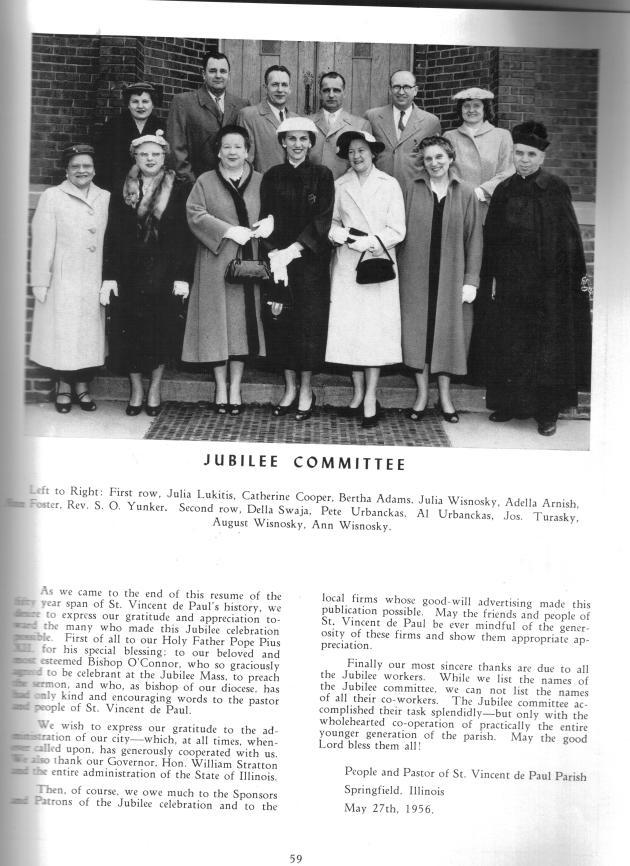 The parish Jubilee committee, 1956
