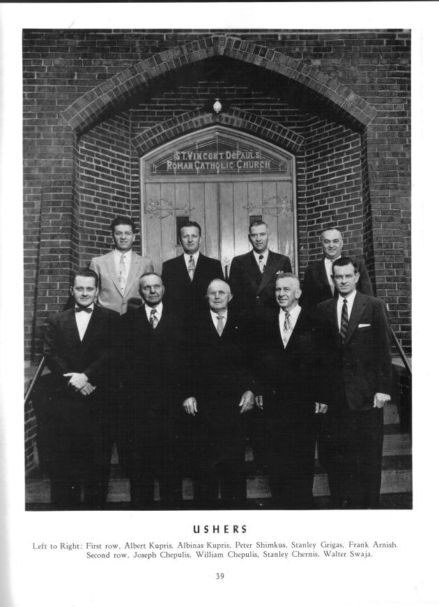Church ushers and parish patriarchs, from the Jubilee book, 1956.