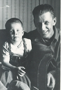 David Black as a little boy with his Grandpa John Galman, Jr. circa 1965.