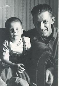 David Black as a little boy with his Grandpa John Galman, Jr. circa 1965.