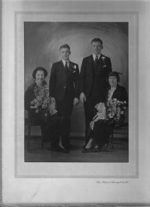 possibly Michael and Adella Bernotas Makarauskas, left; John and Mary (Gidus) Mack, right.  Circa 1936