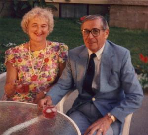 Joe and wife Giedre, 1990s.