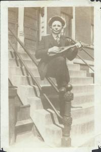 Leonard Naumovich, Sr. with mandolin, circa 1925.
