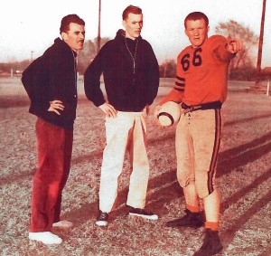 will Stone, #66, Kincaid High School football player, circa 1952.