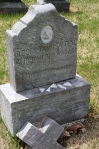 Alice Tamoszaitis (Tamosaitiene) grave in disrepair, Calvary Cemetery