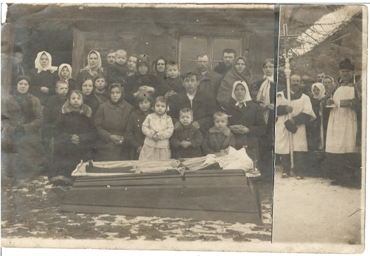 A Galman (Galminas) family death in Lithuania. Undated.