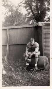 Willie Kavirt, St. James Trade School football star, 1940s.
