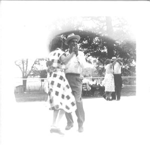 "Frank Pakey dancing at ""Lithuanian Lodge"" picnic, 1950s."