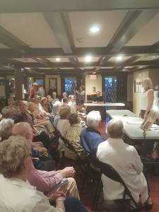 Speaking at the Elijah Iles House, Springfield, Sept. 23, 2015.